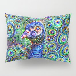Brilliant Jeweled Peacock Pillow Sham