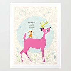 Music Makers (Pink) Art Print