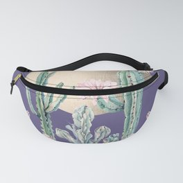 Desert Sun Cactus + Succulents Gold Deep Purple Fanny Pack