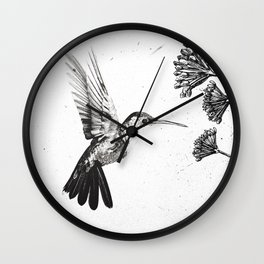 Humming Bird & Flower Wall Clock