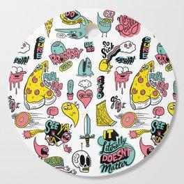 Weirdo Pizza Donut Sword Skull Pattern Cutting Board