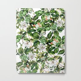 Botanical Leaf Metal Print