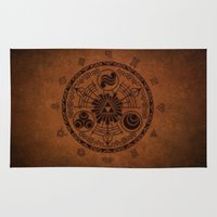 the legend of zelda Area & Throw Rugs featuring The Legend Of Zelda by Electra