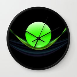 Green Ball Wall Clock