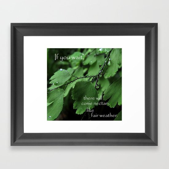 Nature's Patience Framed Art Print