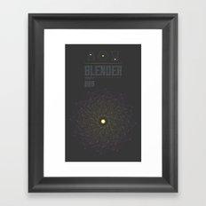 Blender experiment no.6 Framed Art Print