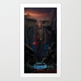 Jareth Is Back-Return To Labyrinth Art Print