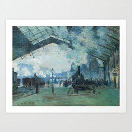 Arrival of the Normandy Train Gare Saint-Lazare Art Print