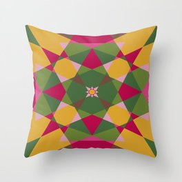 Shades of flowers Throw Pillow