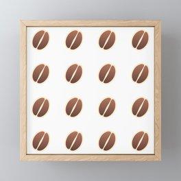 Tasty coffee seamless pattern Framed Mini Art Print