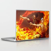 aang Laptop & iPad Skins featuring Aang and Zuko by artofcarmen
