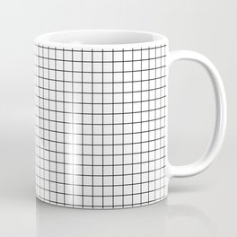 White Grid Black Line Coffee Mug
