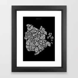 Brooklyn, Black Framed Art Print