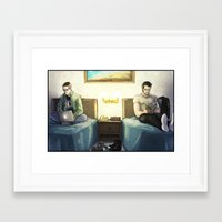 sterek Framed Art Prints featuring Sterek:  Mamihlapinatapai by lolbatty