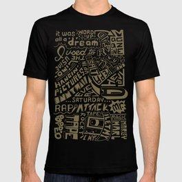 Juicy Lyrics handwritten type T-shirt
