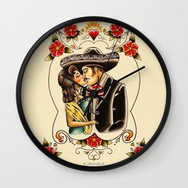 Mexican Couple Wall Clock