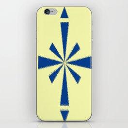Blue Asterisk iPhone Skin