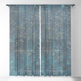 Under Constellations Sheer Curtain