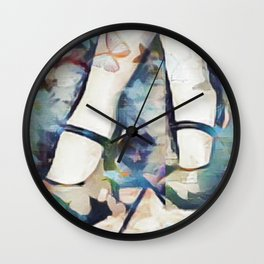 Blue Suede Shoes Wall Clock