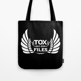 Tox Files - White on Black Tote Bag