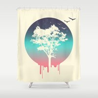 tree of life Shower Curtains featuring Tree Of Life by Jorge Lopez