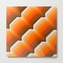 Golden Wave Metal Print