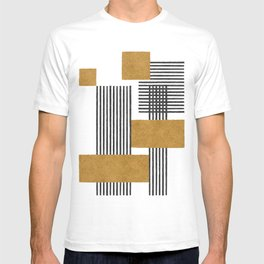 Stripes and Square Composition - Abstract T-shirt
