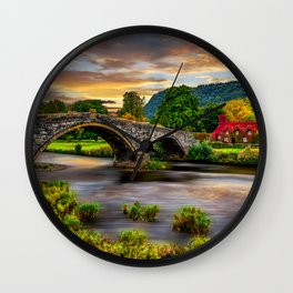 Llanrwst Bridge Wall Clock