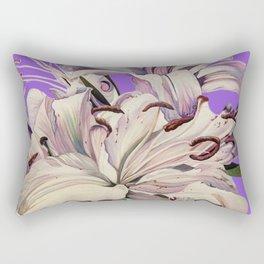 """""""Purple Lilies"""" Rectangular Pillow"""