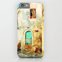 Buildings in the historic center of Tortora iPhone Case