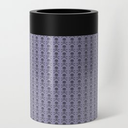 Black and Lavender Skulls Can Cooler