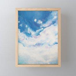 descending clouds Framed Mini Art Print