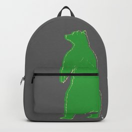 Papa bear in the dark - green Backpack