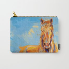 Obedient Spirit - Horse portrait Carry-All Pouch