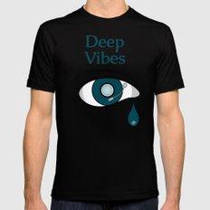 Deep Vibes Black MEDIUM Mens Fitted Tee