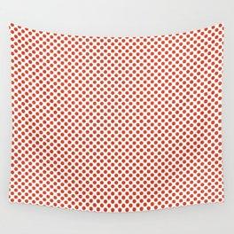 Tangerine Tango Polka Dots Wall Tapestry