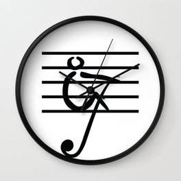 Rowing & Music Key1 Wall Clock
