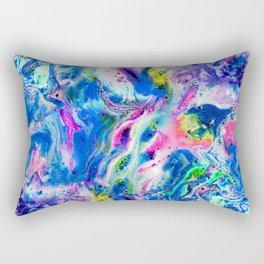 Bathbomb, fluid art, psychedelic art, trippy, psytrance, lsd, acid Rectangular Pillow