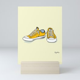 Yellow Sneakers Mini Art Print