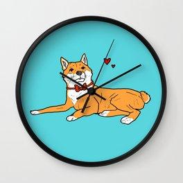 Shiba Inu Love Wall Clock