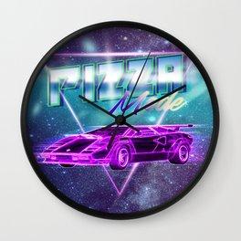 Pizza Pentagram Pizza Mode T-Shirt Wall Clock