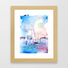 Wind in my Sail Framed Art Print