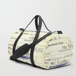 Library Card 828 The Enormous Room Duffle Bag