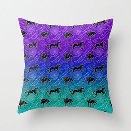Spirit Wanderer - Black Wolves Throw Pillow