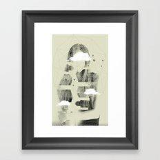 Facet Sky Framed Art Print