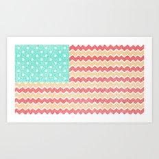Zig Zag Flag. Art Print