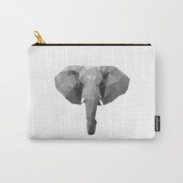 Polygonal elephant portrait Carry-All Pouch