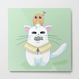 Fatty Catty - Hunter kitti Metal Print