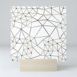 Seg with Color Spots White Mini Art Print