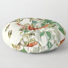 Ruby throated Humming Bird - Audubon's Print Floor Pillow